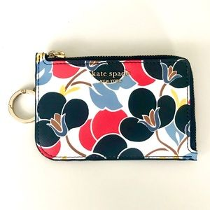 Kate Spade Leather Cardholder Keychain Wallet *NWT